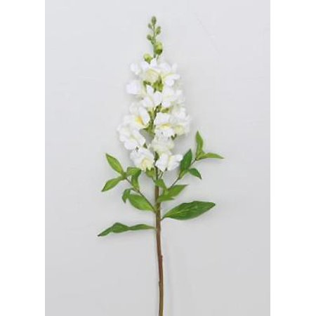 Artificial White Snapdragon Flowers - 25