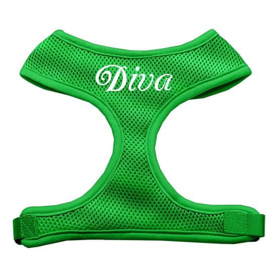 Mirage 70-10 LGEG Diva Design Soft Mesh Dog Harness Emerald Green Large