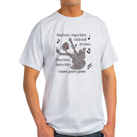 CafePress - Mad Kitty Angry Kitty T-Shirt - Light T-Shirt - (Angry Kitty)