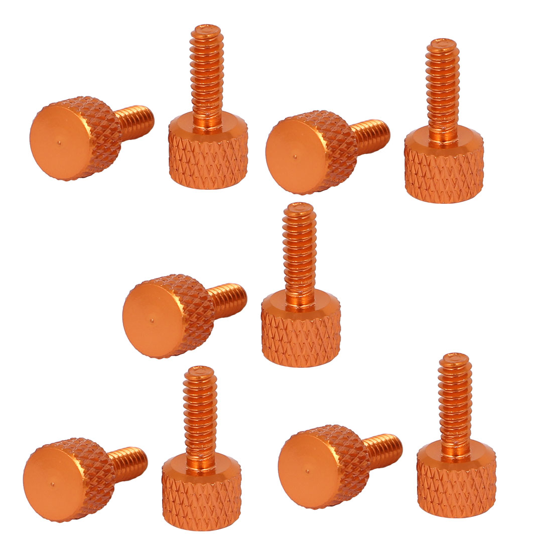 Unique Bargains Computer Graphics Card Round Head Knurled Thumb Screws Orange 6#-32 10pcs