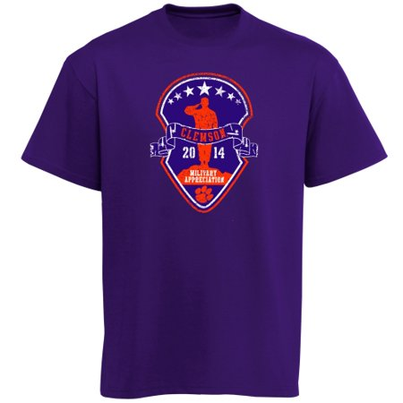 Clemson Tigers 2014 Military Appreciation Game Purple Out T-Shirt - Purple Clemson Tigers Purple Tiger