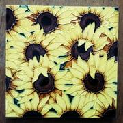 Continental Art Center Art Tile - Multiple Sunflowers