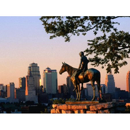 City Skyline Seen from Penn Valley Park, with Indian Statue in Foreground, Kansas City, Missouri Print Wall Art By John Elk III](Party City Overland Park Kansas)