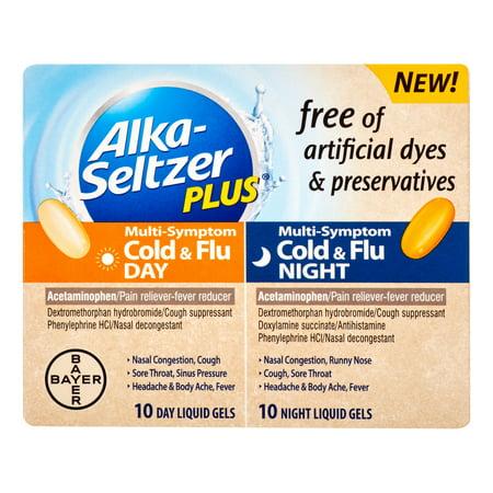 Image of Alka-Seltzer Plus Multi-Symptom Cold & Flu Day/Night Liquid Gels - 20 CT
