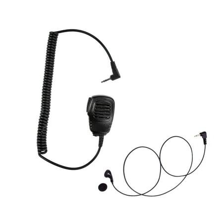 Maxtop APM100ARP01-H2 Light Duty Shoulder Speaker Microphone + Earbud Listen Only Earpiece for Hytera Cobra