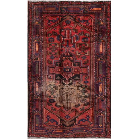 Balouch Oriental 4x7 Hand Knotted Geometric Oriental Area Rug RED CLEARANCE ()