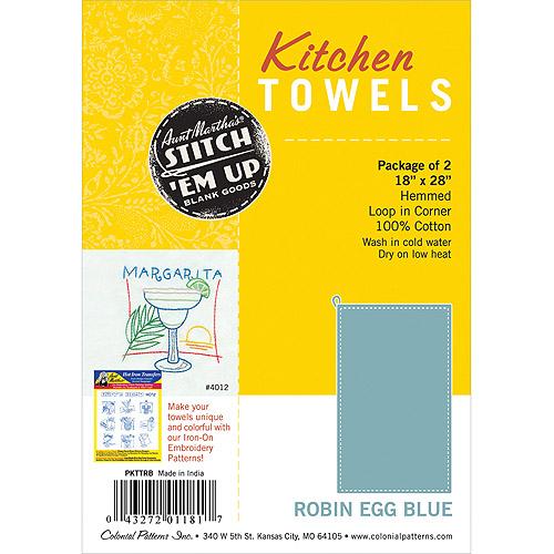 "Hemmed Color Dyed Kitchen Towels 18""X28"" 2/Pkg-Avocado Green"