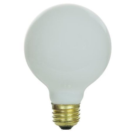 SUNLITE 25W 120V Globe G25 White E26 Incandescent Light Bulb