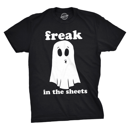 Mens Freak In The Sheets Tshirt Funny Bedsheet Ghost Halloween Tee For Guys](Guy Halloween Ideas College)