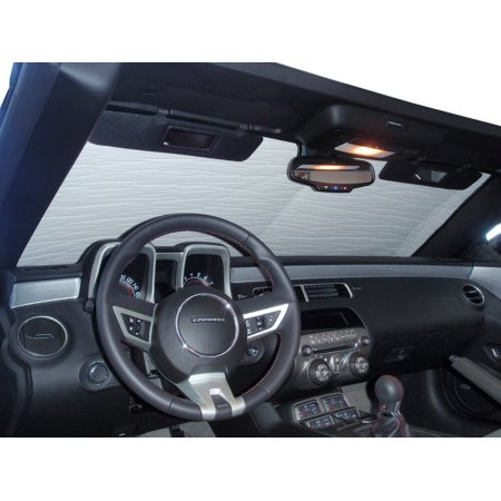 The Original Windshield Sun Shade, Custom-Fit for Chevrolet Camaro Convertible 2010, 2011, 2012, 2013, Silver