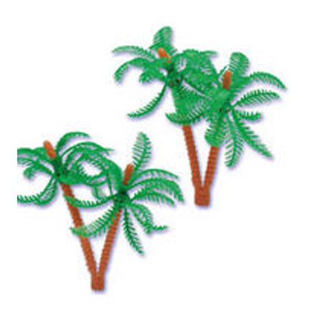 12pc Palm Tree Cake Cupcake Food Decoration Topper (4 inches)