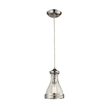 Pendants 1 Light With Polished Nickel Finish Medium Base 7 inch 100 Watts - World of Lamp ()