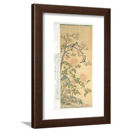 Tapestry Hanging Scroll, Qianlong Period (1736-95) Framed Print Wall Art By Qing Dynasty Chinese School