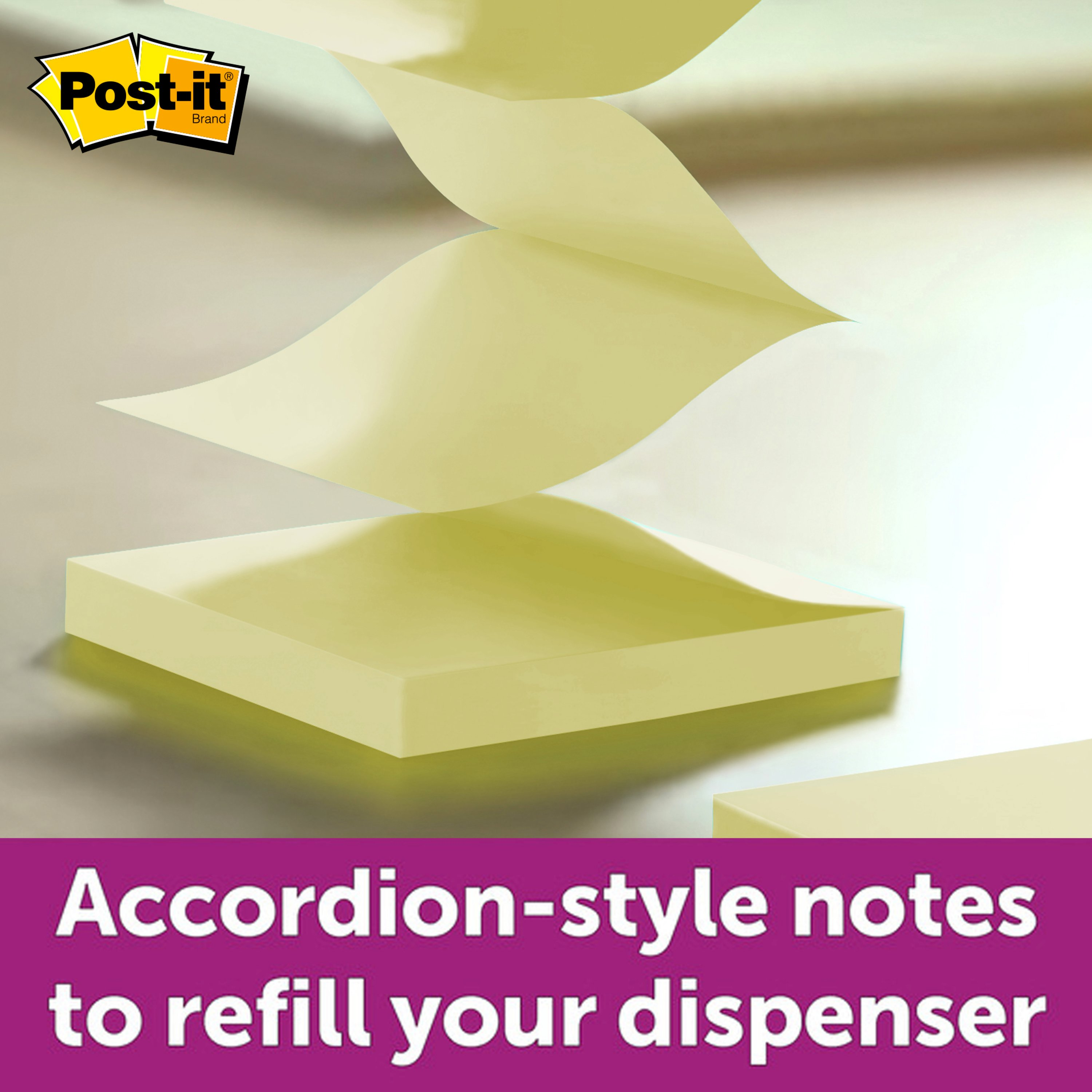 Post-it R440YWSS Pop-up Notes Refill 5//Pack 4 x 4 Canary Yellow Lined 90-Sheet