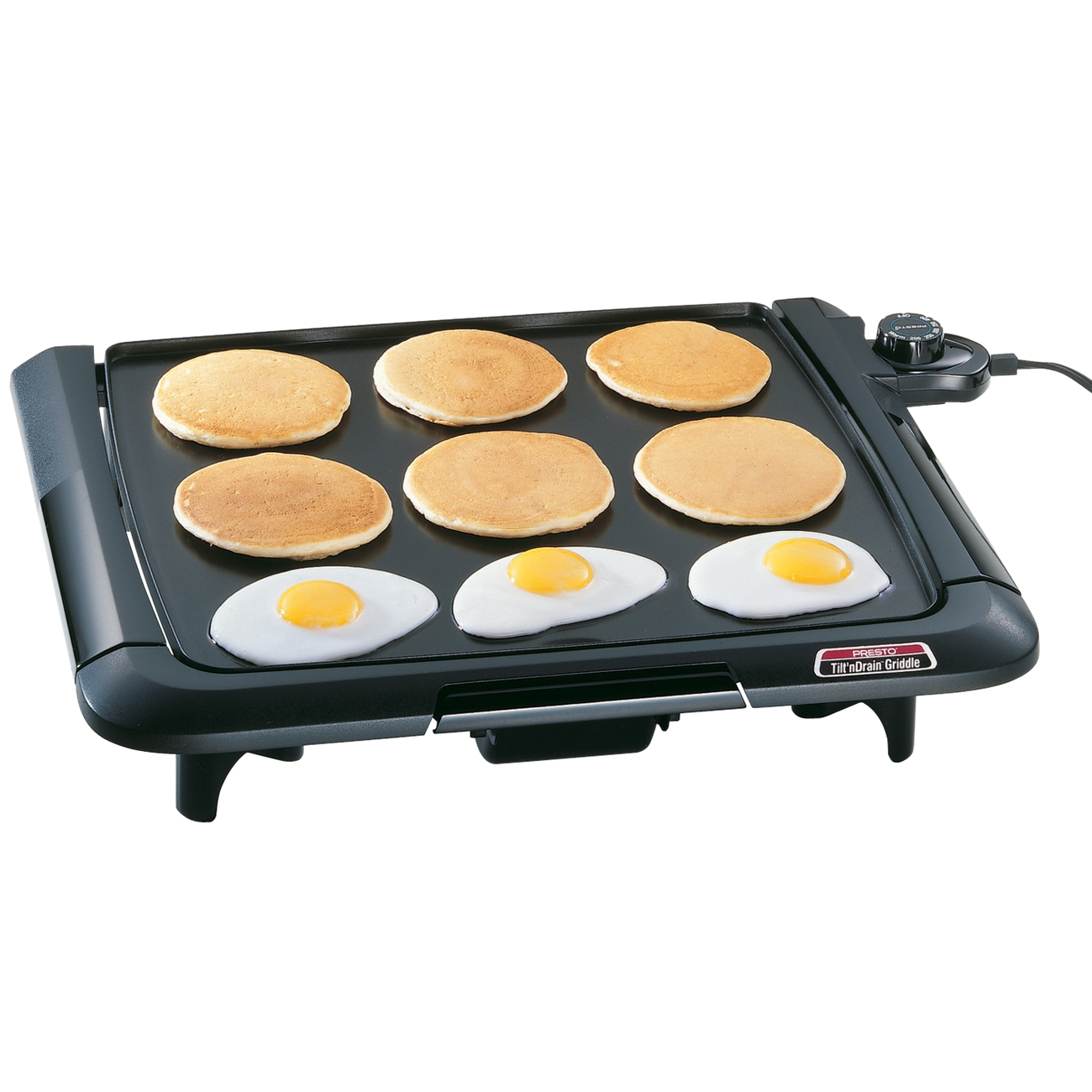 Presto 07045 Cool Touch Electric Tilt 'n' Drain Griddle
