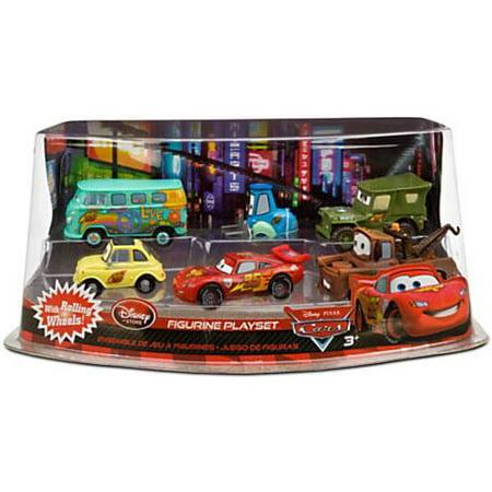 Disney Cars Cars 2 Lightning McQueen Pit Crew PVC Figurine Set](Lightning Mcqueen Cars 2)