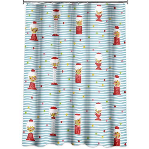 Allure Gumball Machine Shower Curtain
