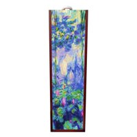 Artist Claude Monet's Nympheas Painting Wine Box Rosewood with Slide Top - Wine Box Holder - Wine Case Decoration - Wine Case Wood - Wine Box Carrier