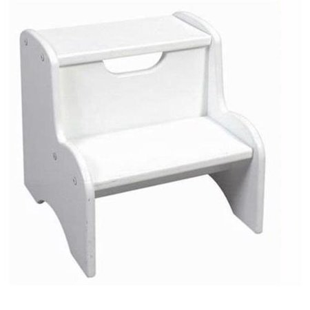 Peachy Childrens Two Step Stool White Finish Frankydiablos Diy Chair Ideas Frankydiabloscom