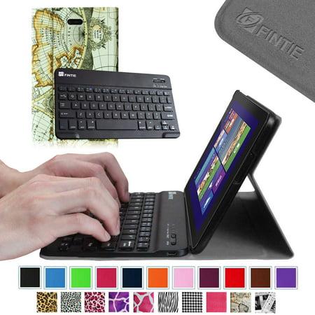 4de22753f6c Fintie Dell Venue 8 Pro Windows 8.1 Tablet Keyboard Case Ultra Slim Cover  with Wireless Bluetooth Keyboard, Map Design - Walmart.com