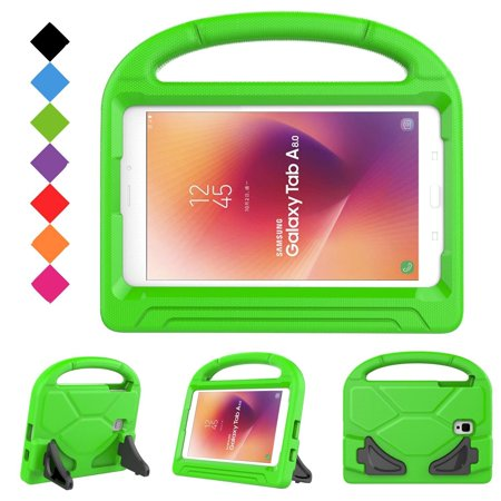 Galaxy Tab A 8.0-inch Case 2017 Release SM-T380/T385, Allytech EVA ShockProof with Handle Stand Cover Kids Case for Samsung Galaxy Tab A 8-inch 2017 Release Tablet (NOT FIT 2015 Tab A 8.0) - Green