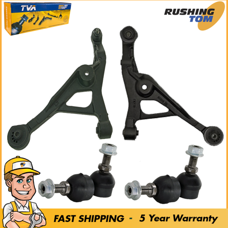 Pair (2) Front Lower Control Arm With Ball Joints And Pair (2) Sway Bar Links 1 3/8' Front Sway Bar