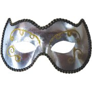 Silver and Gold Opera Eye Mask Adult Accessory