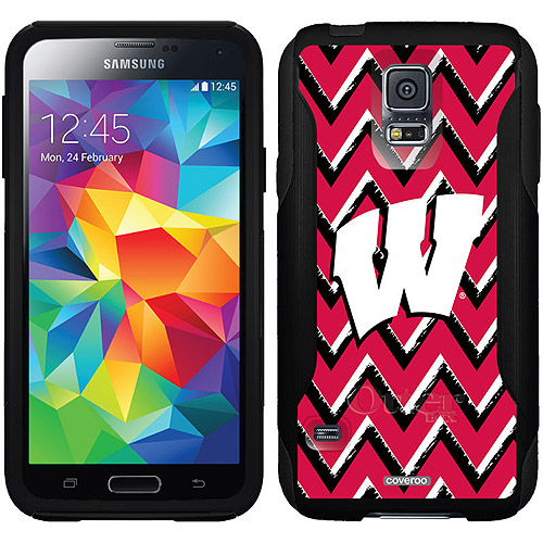 Wisconsin Sketchy Chevron Design on OtterBox Commuter Series Case for Samsung Galaxy S5