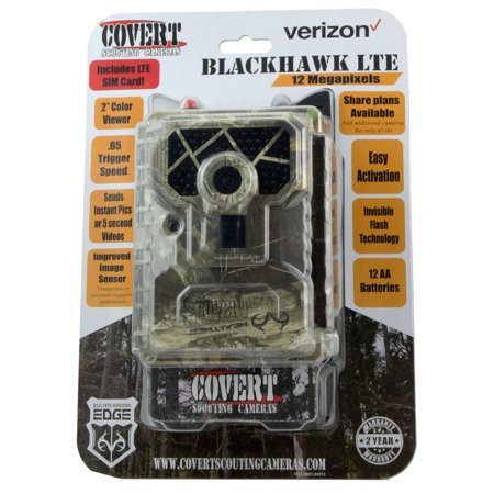 Covert Scouting Cameras 5465 Blackhawk LTE Trail Camera 12 MP 60 No Glow LED Realtree Edge (Wildview Scouting Cameras)