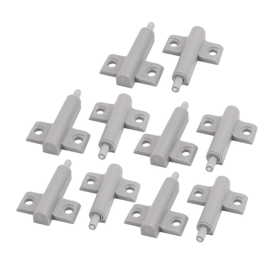 Cupboard Cabinet Drawer Plastic Damper Bumper Closer Buffer Gray 10pcs
