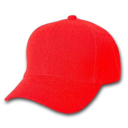 Plain Baseball Cap Blank Hat Solid Color Velcro Adjustable 13 Colors (Red)  - Walmart.com bb1141c3815