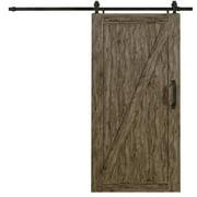 "Spectrum Millbrooke PVC Barn Door Z-Style Kit Size 42""wide x 84""high Weathered Grey Color"