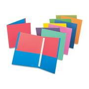 TOPS, OXF55776, Twisted Twin Pocket Portfolio, 50 / Display Box, Assorted
