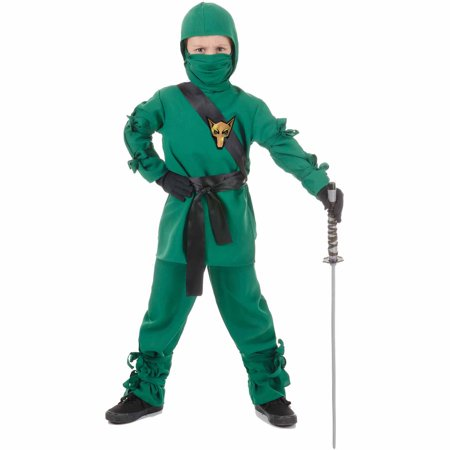 Green Ninja Child Halloween Costume - Green Bay Packer Costume