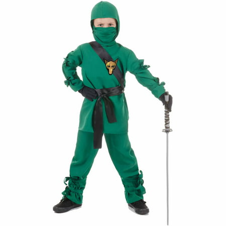 Green Ninja Child Halloween Costume](Elvira Mistress Dark Halloween Costumes)