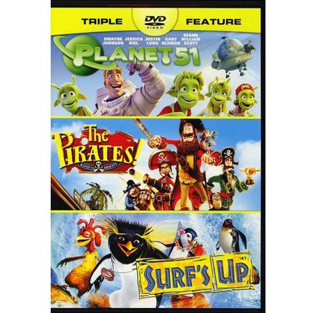 Planet 51   The Pirates  Band Of Misfits   Surfs Up  Dvd   Digital Copy   With Instawatch   Widescreen