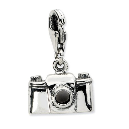 Roy Rose Jewelry Sterling Silver Amore la Vita Antiqued Camera w/Lobster Clasp Charm