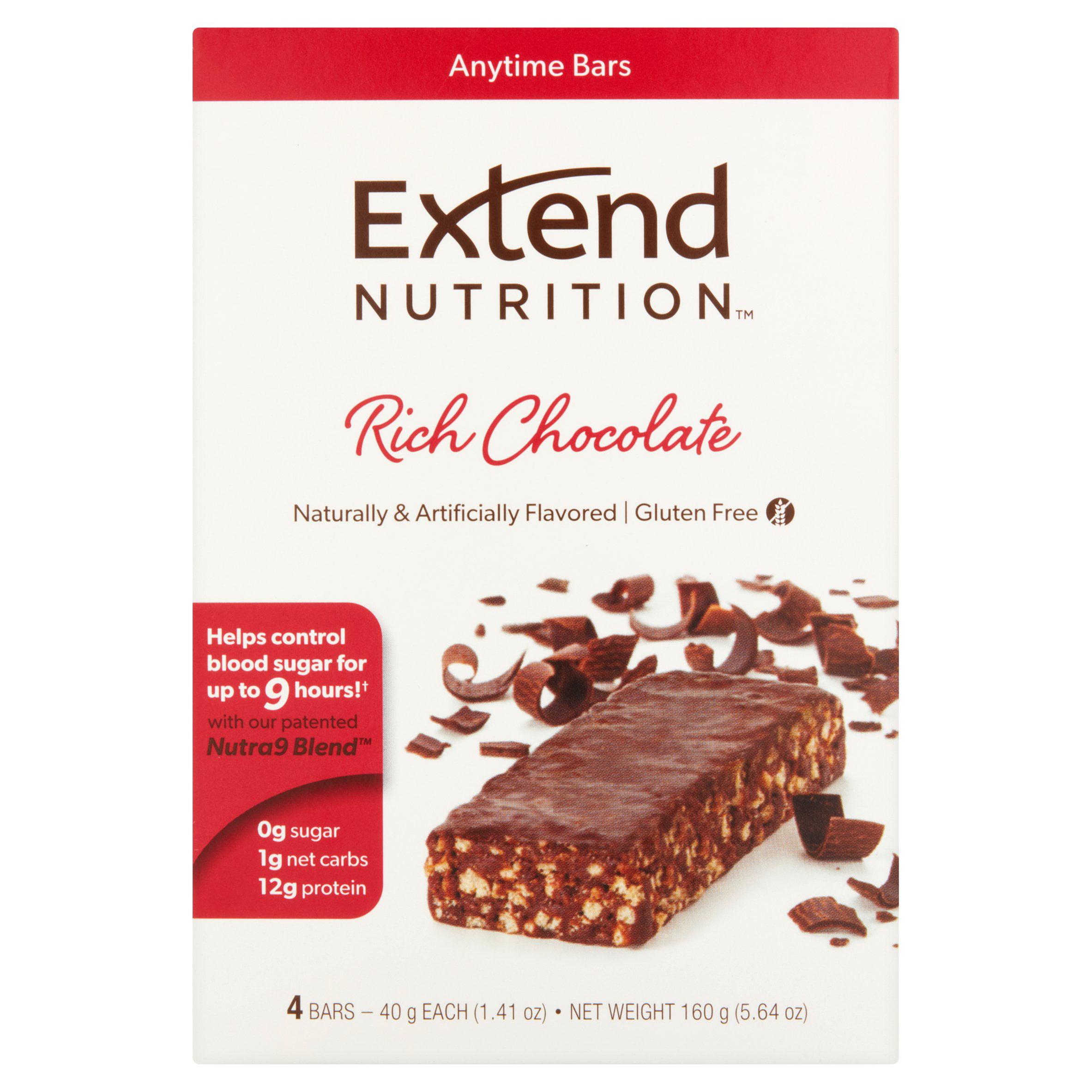 ExtendBar Chocolate Delight Snack Bars, 4-Pack