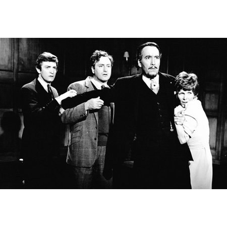 Christopher Lee, Patrick Mower, Sarah Lawson and Paul Eddington in The Devil Rides Out 24x36
