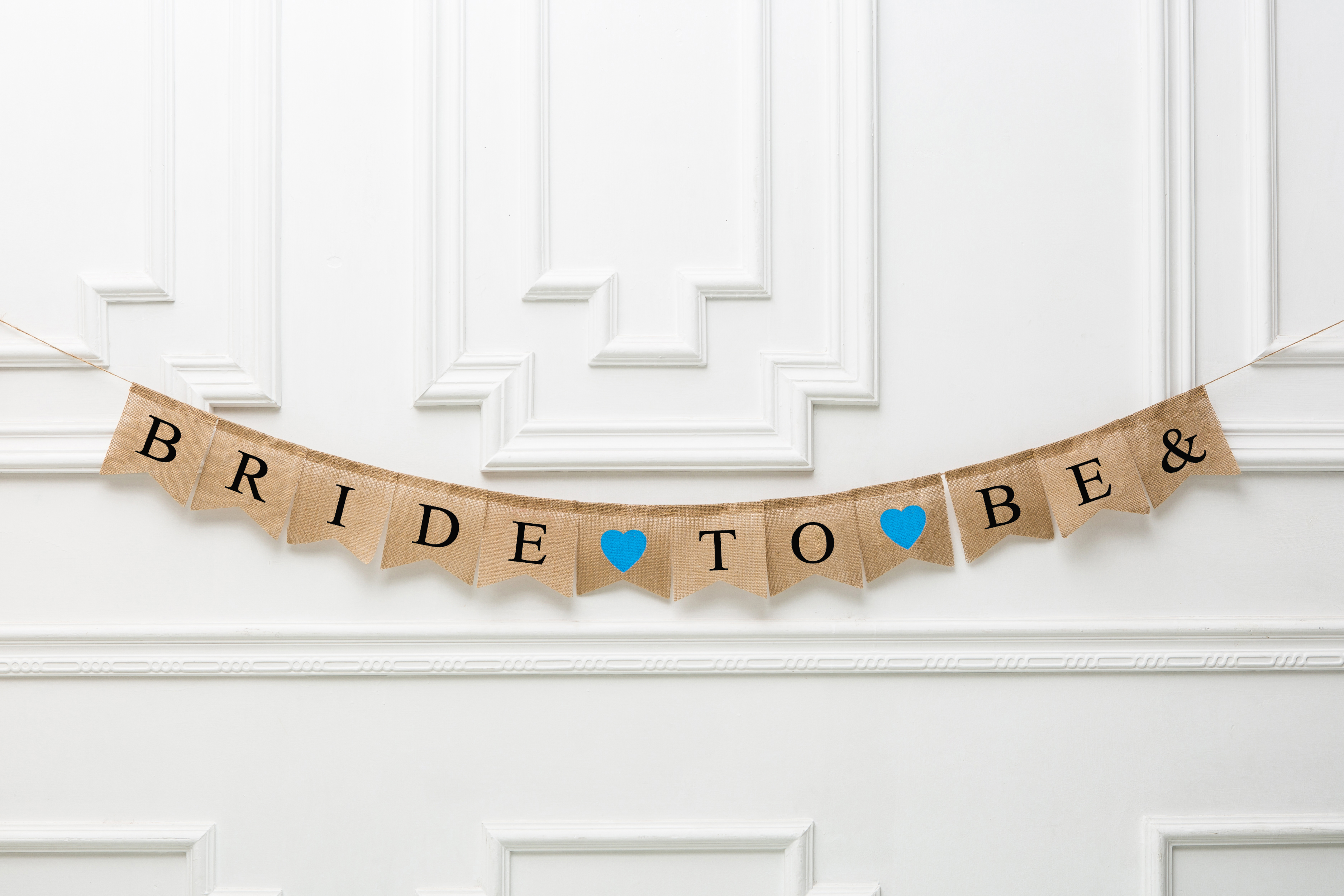 Cards Garland Rustic Wedding Burlap Banner Bunting Party Sign Photo Props