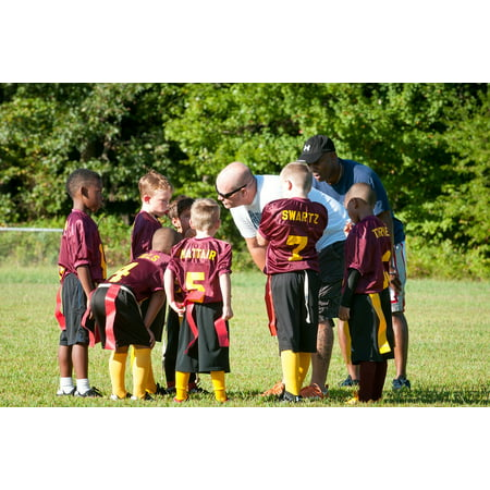 LAMINATED POSTER Flag Flag Football Football Coach Game Sport Poster Print 24 x 36