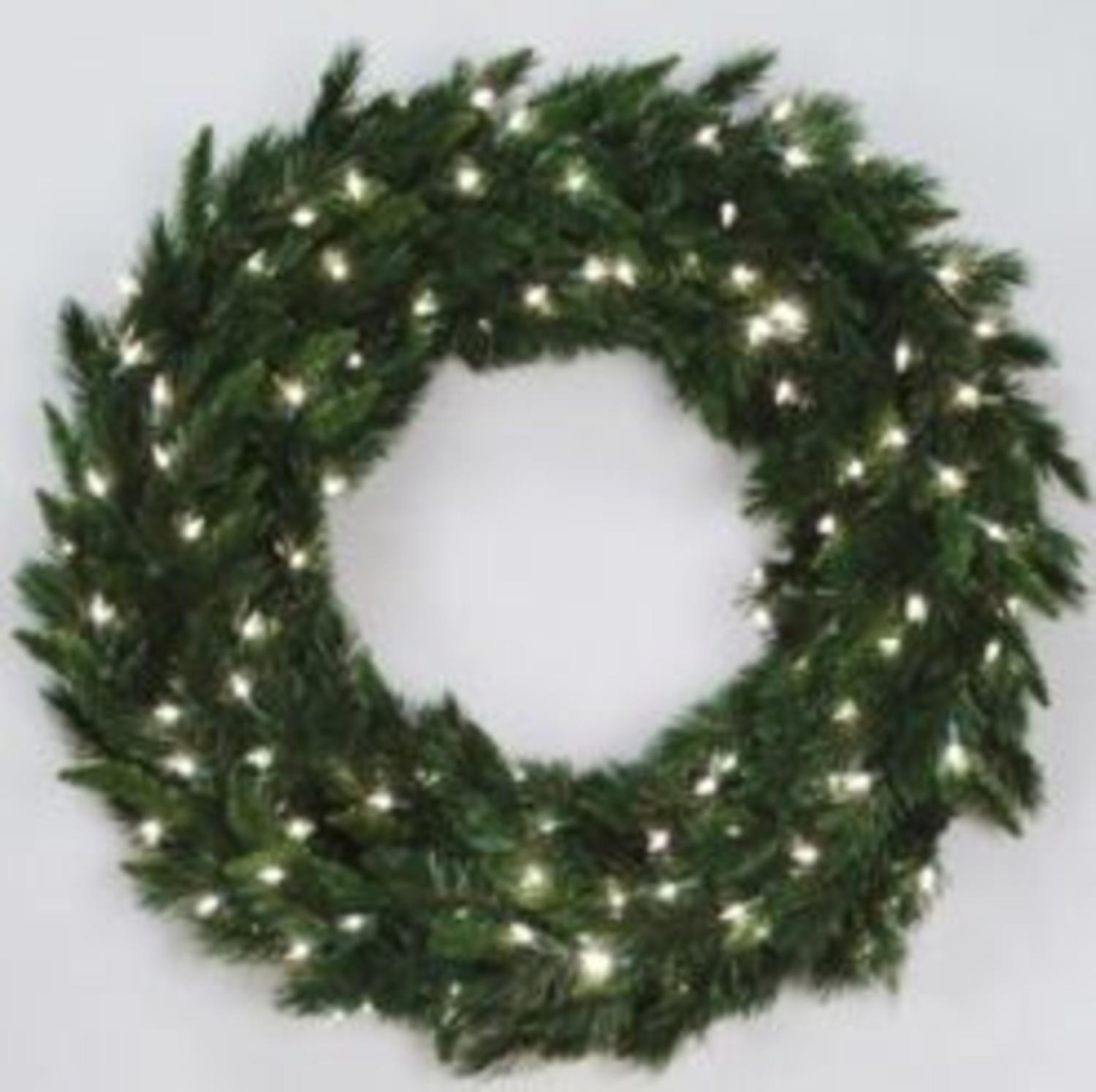 "36"" Pre-Lit Imperial Pine Artifical Wreath - Warm White LED Lights"