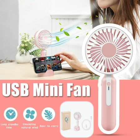 Mini Hand Fan (Portable Mini Handheld Fan USB Electric Fans Portable Desk Stroller Table Ventilation Air Conditioning Fan Air Cooler for Outdoor Home)