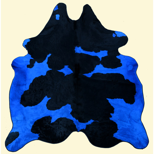 T. Style Dairy Blue and Black Area Rug
