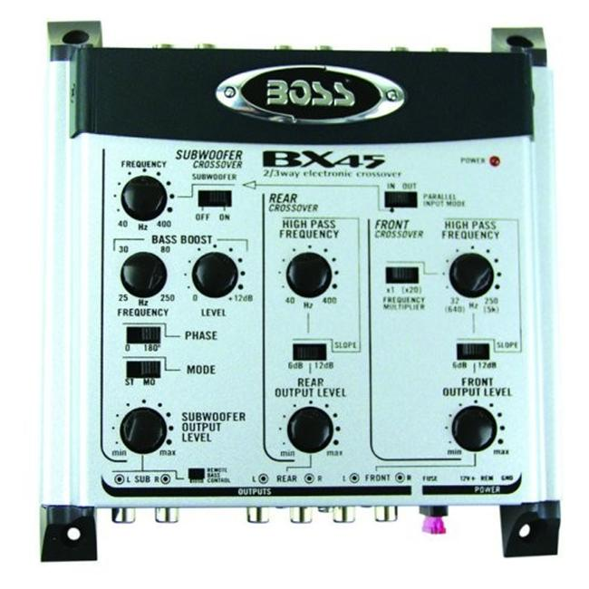 Boss Audio Systems AVA-BX45 2-3 Way Electronic Crossover