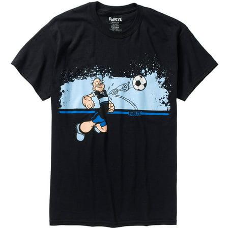 Popeye Soccer Mens Graphic Tee