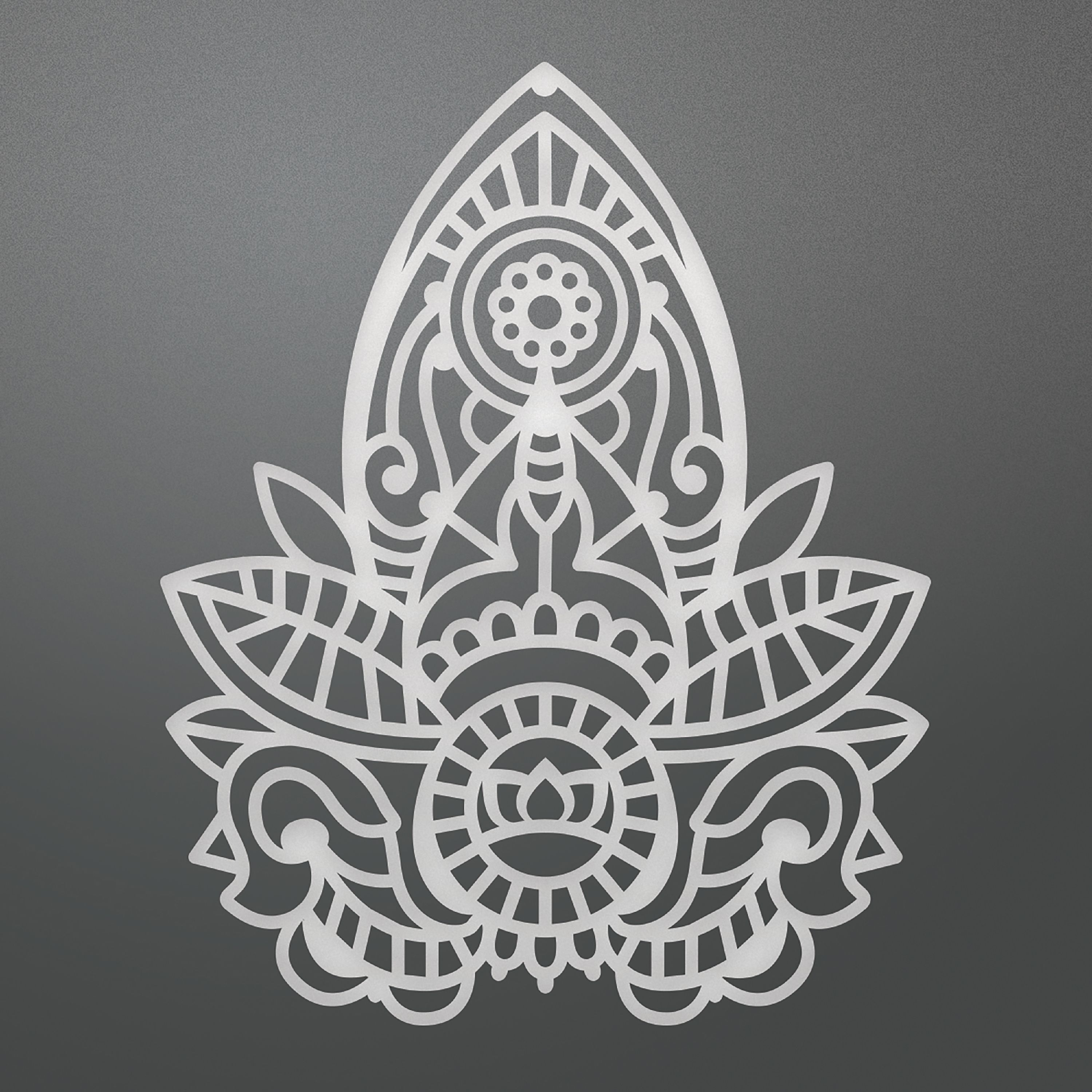 "Ultimate Crafts Bohemian Bouquet Die -Henna Motif, 2.3""X2.9"""