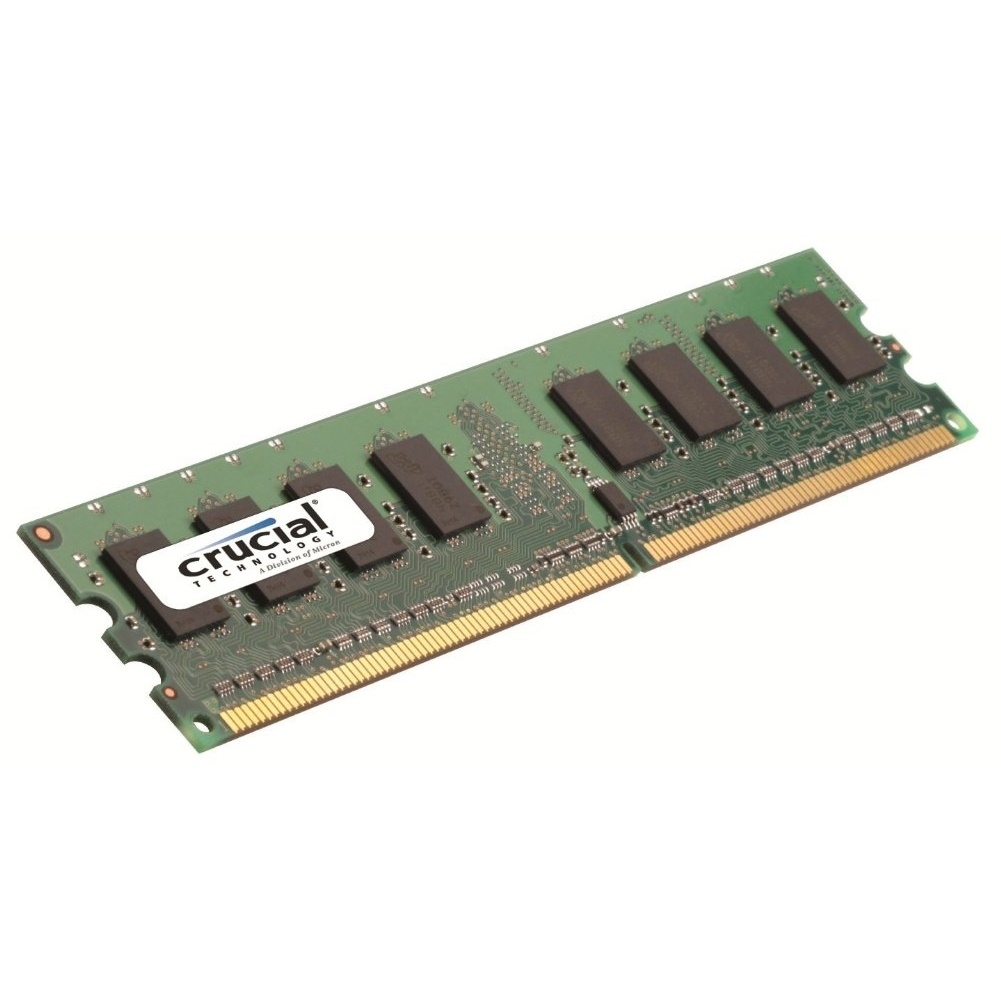 Crucial Memory 2GB CT25664AA667 DDR2 667MHz PC2-5300 240-pin DIMM Non-ECC Unbuffered