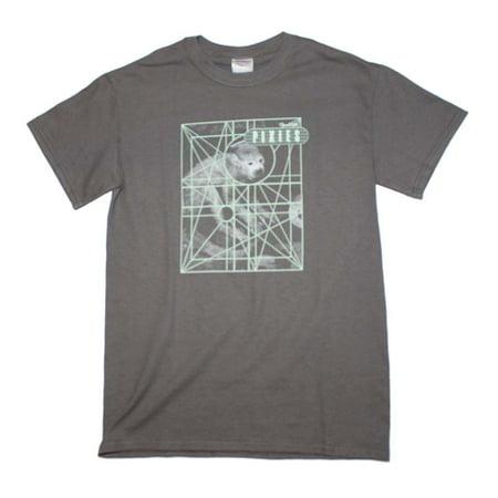 Pixies Monkey Grid T-Shirt - Dark Gray - Large - Grim Apparel