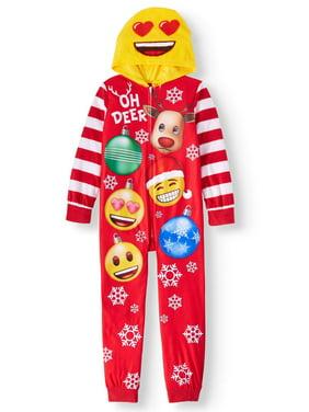 Emoji Girls' Onesie Sleeper Pajama